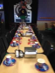 Chuck E Cheese - summer-end party!